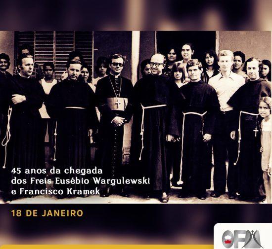 45 anos da chegada dos Freis Kramek e Eusébio ao Brasil - Província de Brasília