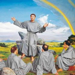 Como foram a Roma e o senhor papa lhes concedeu a Regra e pregação.