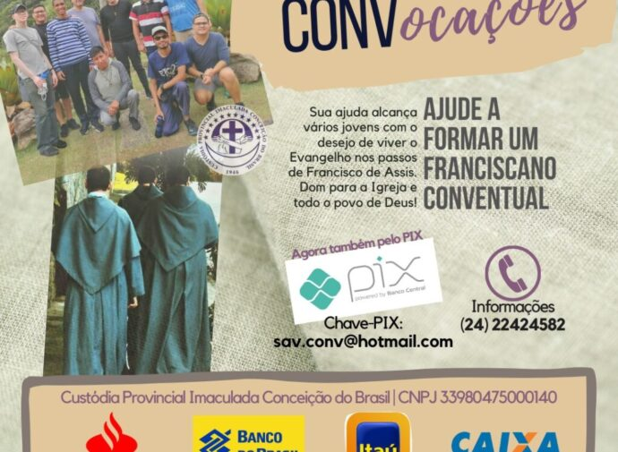 Ajude a Formar um Franciscano!