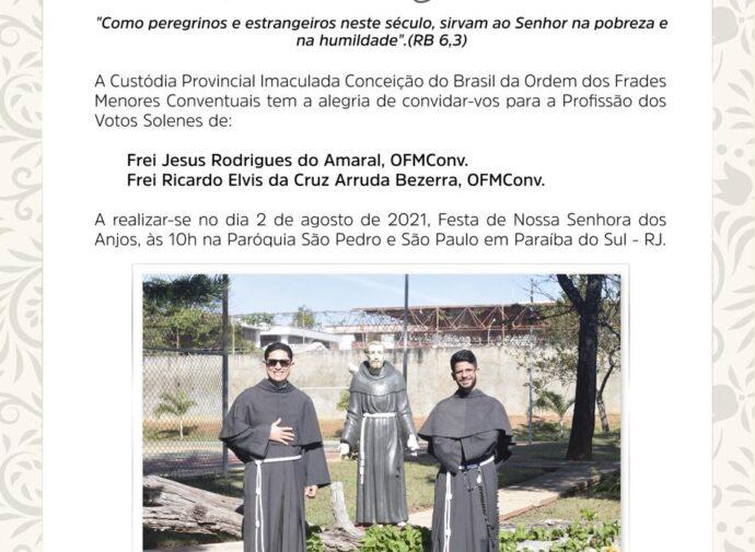 Profissão Solene: Frei Ricardo e Frei Jesus